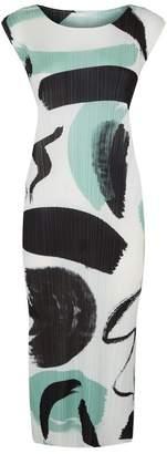 Pleats Please Printed Pleated Midi Dress