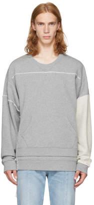 Maison Margiela Grey Layered Oversized Sweatshirt