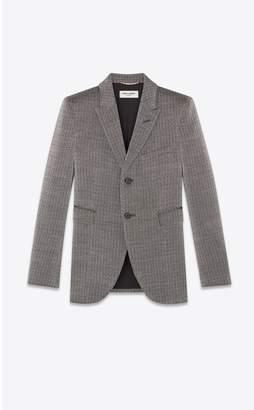 Saint Laurent Blazer In A Rustic Lame Knit