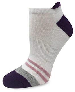 SILKS Women's Athleisure Colour Block Tab Cushion Low Cut Socks