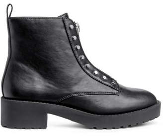 H&M Ankle Boots with Zip - Black