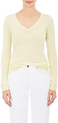 Barneys New York Women's Silk-Cashmere V-Neck Sweater - Yellow