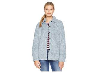 True Grit Dylan by Soft Shearling Tipped Pile Shirt Jacket