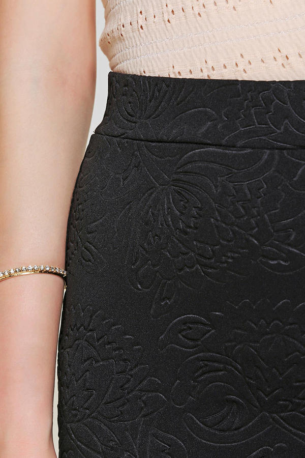 Sparkle & Fade Embossed Scuba Mini Skirt