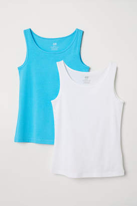 H&M 2-pack Tank Tops - Turquoise