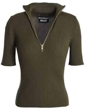 Moschino Ribbed-Knit Wool Turtleneck Sweater