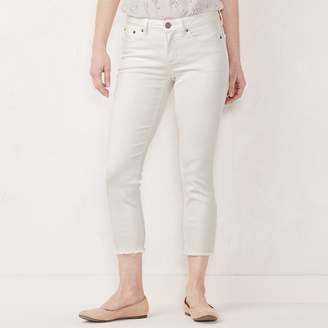 Lauren Conrad Petite Frayed Skinny Ankle Jeans
