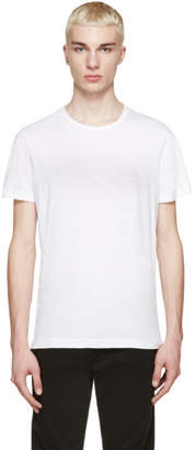 Pierre Balmain White Embroidered Logo T-Shirt