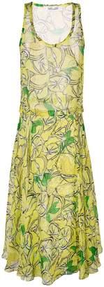 Diane von Furstenberg lemon print midi dress
