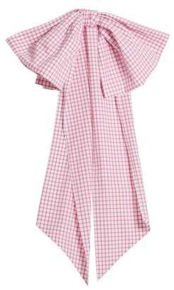 Cotton Belt DOVIMA PARIS Romy bow-embellished gingham