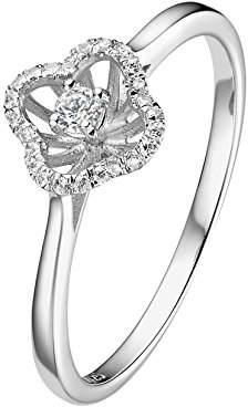 L・I・U Fei Liu Fine Jewellery Women 925 Sterling Silver Cubic Zirconia Ring - Size J CAS-925R-005-CZ00-J