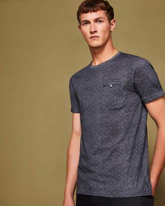 Ted Baker GIOVANI Spot print cotton T-shirt