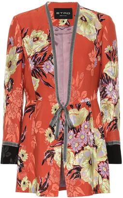 Etro Floral silk-blend jacquard jacket