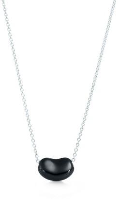 8f9fc2b8b Tiffany & Co. Elsa Peretti Bean Design pendant in sterling silver with black  jade