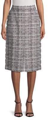 Escada Distressed Printed Skirt