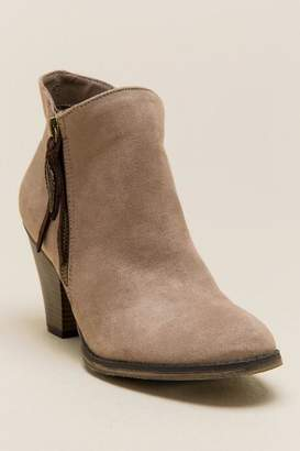Mia Montgomery Zipper Ankle Boot - Taupe