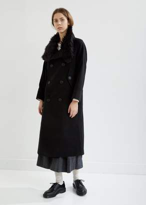 Zucca Light Melton Stand Up Collar Long Coat