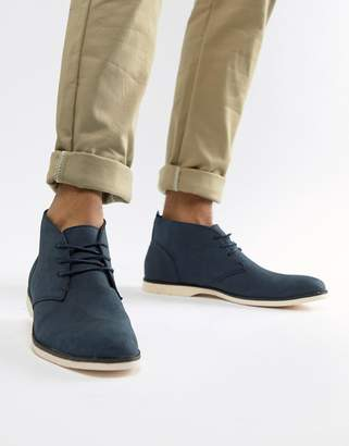 New Look chukka boots in navy