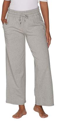Anybody AnyBody Loungewear Cozy Knit French Terry Wide Ankle Pant