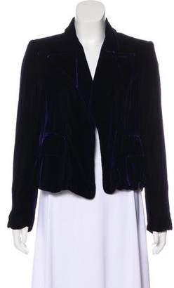 Saint Laurent Structured Velvet Blazer