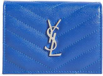 Saint Laurent Monogram Quilted Leather Card Case