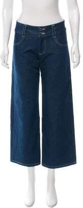 Sandy Liang Gemini Colorblock Jeans w/ Tags