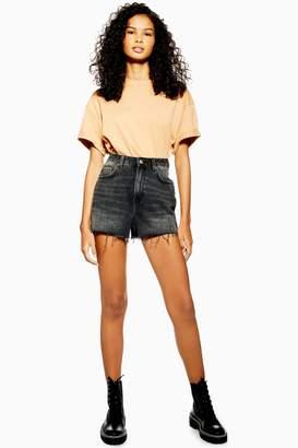Topshop Black Denim Mom Shorts