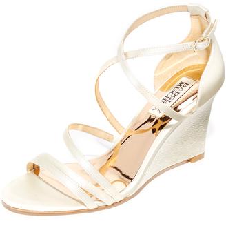 Badgley Mischka Bonanza Wedge Sandals $195 thestylecure.com