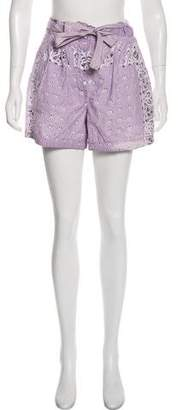 Dolce & Gabbana Tie-Accented Mini Shorts