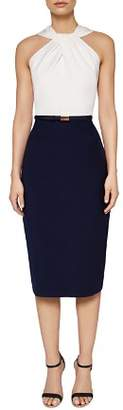 Ted Baker Rayald Color-Block Sheath Dress