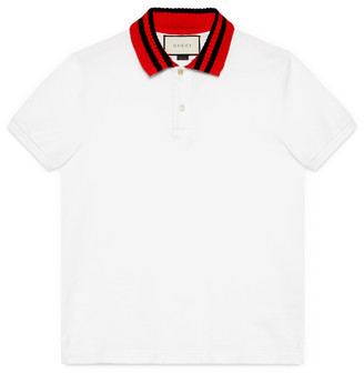 Cotton polo with Web collar $475 thestylecure.com