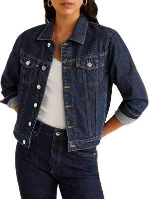 MANGO Spread Collar Denim Jacket