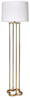 One Kings Lane Clover Floor Lamp - Brass