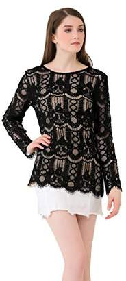 UP Ultrapink Missy Womens Lace Blouse With Tank