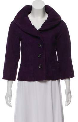 Marc Jacobs Shawl Collar Suede Jacket