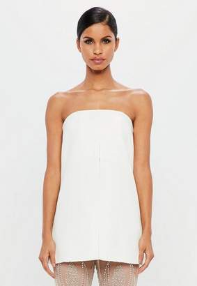 Missguided White Split Front Bandeau Top, White