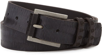 Robert Graham Abruscato Streaked Leather Belt, Black $65 thestylecure.com
