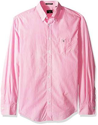 Gant Men's The Broadcloth Banker Stripe Regular Fit Button Down Shirt