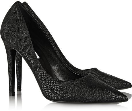 Diane von Furstenberg Bethany lizard-effect leather pumps
