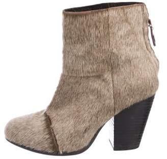 Rag & Bone Ponyhair Round-Toe Ankle Boots