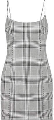 Alexander Wang - Checked Woven Mini Dress - Black