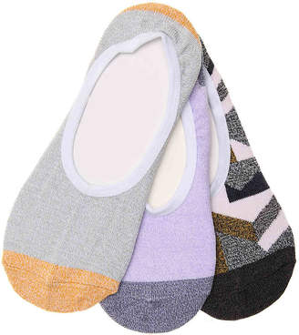 Vans Geo Knit No Show Socks - 3 Pack - Women's