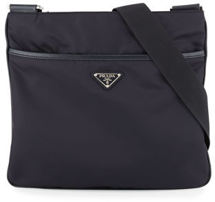 Prada Nylon Crossbody Messenger Bag, Navy $795 thestylecure.com