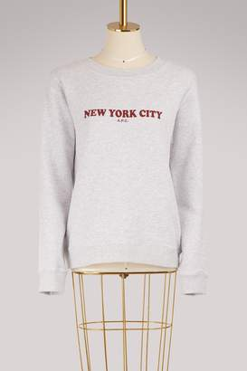 A.P.C. Cotton New York City sweatshirt
