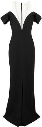 Mugler - Cold-shoulder Crepe Gown - Black $2,185 thestylecure.com