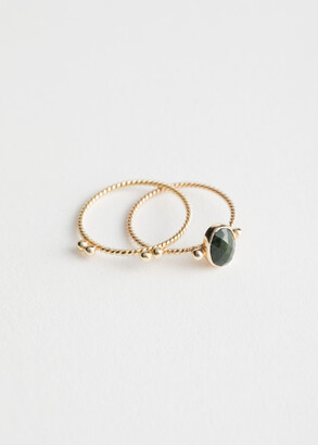 And other stories Round Stone Ring Set