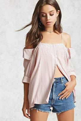 Forever 21 Contemporary Striped Shirt