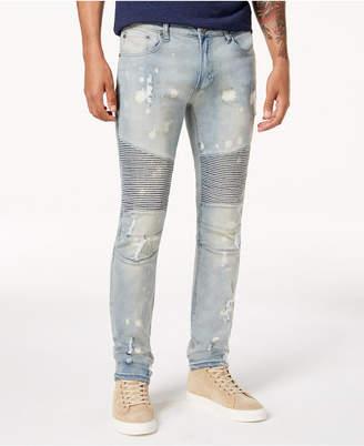 Reason Men's Slim-Fit Moto Jeans