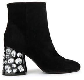 Kenneth Cole New York Rosie Suede Embelished Heel Booties