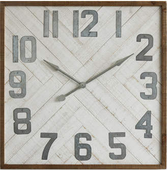 3r Studio Square Wood & Metal Wall Clock